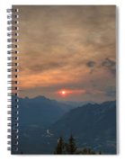 Translucent Sunset In Widescape Spiral Notebook