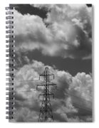 Transmission Tower In Storm Spiral Notebook