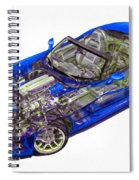 Transparent Car Concept Made In 3d Graphics 1 Spiral Notebook