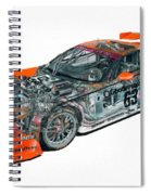 Transparent Car Concept Made In 3d Graphics 10  Spiral Notebook