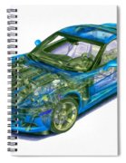 Transparent Car Concept Made In 3d Graphics 11 Spiral Notebook