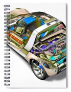Transparent Car Concept Made In 3d Graphics 2 Spiral Notebook