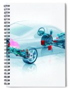 Transparent Car Concept Made In 3d Graphics 7 Spiral Notebook