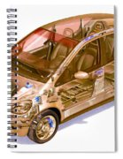 Transparent Car Concept Made In 3d Graphics 9 Spiral Notebook