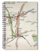 Transport Map Of London Spiral Notebook