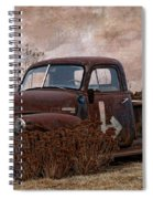 Transportation - Rusted Chevrolet 3100 Pickup Spiral Notebook