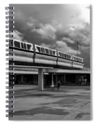 Transportation Station In Black And White Walt Disney World Spiral Notebook