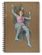 Trapeze Artist At The Medrano Circus Spiral Notebook