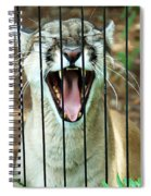 Trapped In A Cage Spiral Notebook