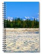 Trapper Creek And Mount Mckinley, Alaska Spiral Notebook