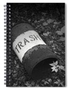 Trash Can Spiral Notebook
