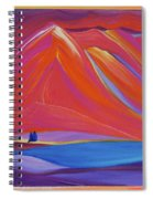 Travelers Pink Mountains Spiral Notebook