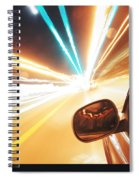Traveling At Speed Of Light Spiral Notebook