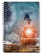 Traveling On Winters Night Spiral Notebook