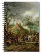 Travellers At An Inn Spiral Notebook