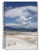 Travertine Hill Of Mammoth Hot Springs  Spiral Notebook
