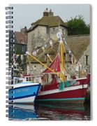 Trawlers In Honfleur Spiral Notebook