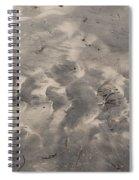 Tread On The Beach Spiral Notebook