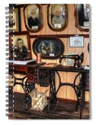 Treadle Sewing Machines Spiral Notebook