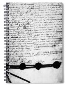 Treaty Of Alliance, 1778 Spiral Notebook