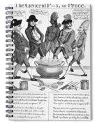 Treaty Of Paris Cartoon Spiral Notebook