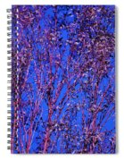 Tree Abstract Purple Blue  Spiral Notebook
