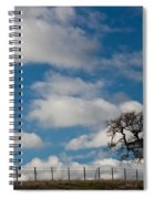 Tree And Fence On A Landscape, Santa Spiral Notebook