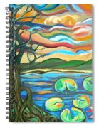 Tree And Lilies At Sunrise Spiral Notebook