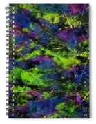 Tree Branches Lit With Abstract Colorful Projection Spiral Notebook