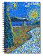 Tree By The Road Spiral Notebook