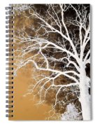 Tree In Abstract Spiral Notebook