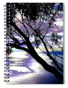 Tree In Silhouette Spiral Notebook