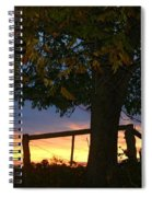 Tree In The Sunset Spiral Notebook