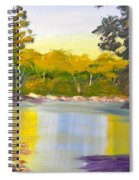 Tree Lined River Spiral Notebook