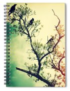 Tree Of Crows II Lights Spiral Notebook