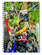 Tree Of Shame Near Tail Of Dragon Road In Nc Spiral Notebook