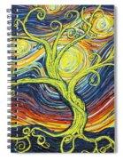 Tree Of Starlight Spiral Notebook