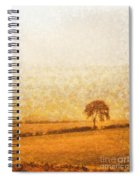 Tree On Hill At Dusk Spiral Notebook