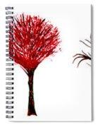 Tree Paintings In Wax Spiral Notebook