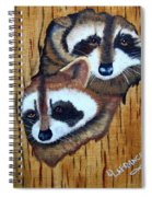 Tree Raccoons Spiral Notebook