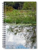 Tree Reflecting In Pond Spiral Notebook