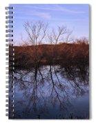 tree reflection on Wv pond Spiral Notebook
