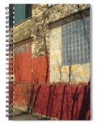 Tree Shadow On Brick 2 Spiral Notebook