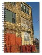 Tree Shadow On Brick 4 Spiral Notebook