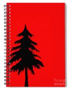 Tree Silhouette On A Red Background 2 Spiral Notebook