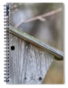 Tree Swallows On Birdhouse Spiral Notebook