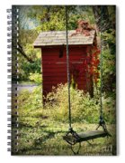 Tree Swing By The Outhouse Spiral Notebook