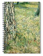 Tree Trunks In Grass Spiral Notebook