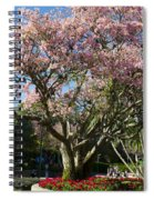 Tree With Pink Flowers Spiral Notebook