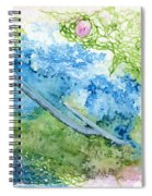 Tree With Rose Spiral Notebook
